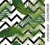 beautiful tropical abstract... | Shutterstock .eps vector #1336248638