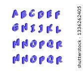 isometric alphabet font. 3d... | Shutterstock .eps vector #1336262405