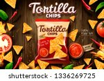 tortilla chips ads with cookies ... | Shutterstock .eps vector #1336269725