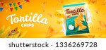 delicious tortilla chips banner ...   Shutterstock .eps vector #1336269728