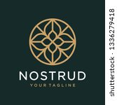 abstract flower swirl logo icon ... | Shutterstock .eps vector #1336279418