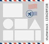 postal card isolated on white... | Shutterstock .eps vector #1336289108