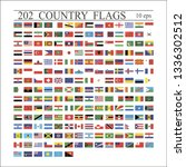 world flags all vector color... | Shutterstock .eps vector #1336302512