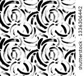 seamless pattern with hand... | Shutterstock .eps vector #1336306442