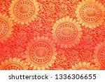 Closeup View Of A Red Banarasi...