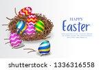 colorful 3d group egg... | Shutterstock .eps vector #1336316558