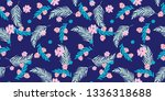 trendy cute floral illustration ... | Shutterstock . vector #1336318688