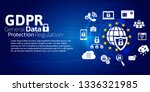 digital background with world... | Shutterstock .eps vector #1336321985
