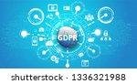 general data protection... | Shutterstock .eps vector #1336321988