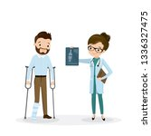 injured male character and... | Shutterstock .eps vector #1336327475