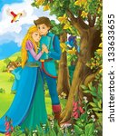 the princesses   castles  ... | Shutterstock . vector #133633655