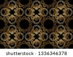 golden element on black and... | Shutterstock . vector #1336346378