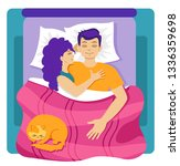 young couple man and woman...   Shutterstock .eps vector #1336359698