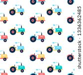 cement mixer  vehicle and... | Shutterstock .eps vector #1336362485