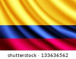waving flag of colombia | Shutterstock . vector #133636562