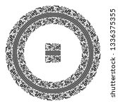 embroidered good like handmade... | Shutterstock .eps vector #1336375355