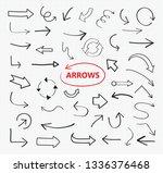 sketchy arrows collection | Shutterstock .eps vector #1336376468