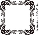 Silhouette Of Ornamental Frame