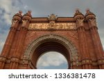 the arc de triomf or arco de... | Shutterstock . vector #1336381478