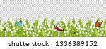 seamless border with spring... | Shutterstock .eps vector #1336389152