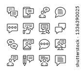 speech bubbles and message line ...   Shutterstock .eps vector #1336390025