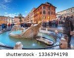 fountain on the piazza di... | Shutterstock . vector #1336394198
