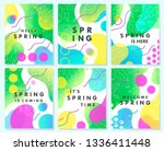 set of unique spring cards with ... | Shutterstock .eps vector #1336411448