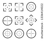 different icon set of targets... | Shutterstock .eps vector #1336414022