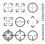 different icon set of targets... | Shutterstock .eps vector #1336414025