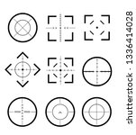 different icon set of targets... | Shutterstock .eps vector #1336414028