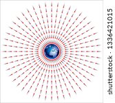gravitational field of earth    Shutterstock .eps vector #1336421015
