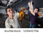 Pair Of Glass Art Students...