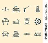 shipping icons set with... | Shutterstock .eps vector #1336433282