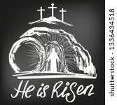 easter jesus christ rose from... | Shutterstock .eps vector #1336434518