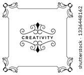 wedding card border  template  | Shutterstock .eps vector #1336448162