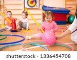 happy sporty children play in...   Shutterstock . vector #1336454708