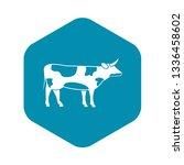 switzerland cow icon in simple...   Shutterstock .eps vector #1336458602