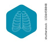 rib cage icon. outline...   Shutterstock .eps vector #1336458848