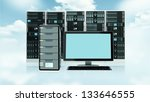 server concept with blank... | Shutterstock . vector #133646555