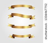 set of golden ribbons vector.   Shutterstock .eps vector #1336467752