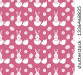seamless pattern with easter... | Shutterstock .eps vector #1336468835