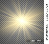 glow light effect. star burst... | Shutterstock .eps vector #1336482725
