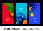 set of minimal tropical cards    Shutterstock .eps vector #1336488248
