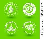 vector set of  green design... | Shutterstock .eps vector #1336503482