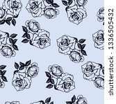 floral rose pattern vector... | Shutterstock .eps vector #1336505432