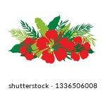 green summer tropical...   Shutterstock .eps vector #1336506008