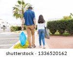 full length rear view of family ... | Shutterstock . vector #1336520162