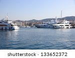 yachts at cannes port  french... | Shutterstock . vector #133652372