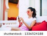 a little paradise. relaxed... | Shutterstock . vector #1336524188