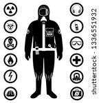 industry concept. black... | Shutterstock .eps vector #1336551932